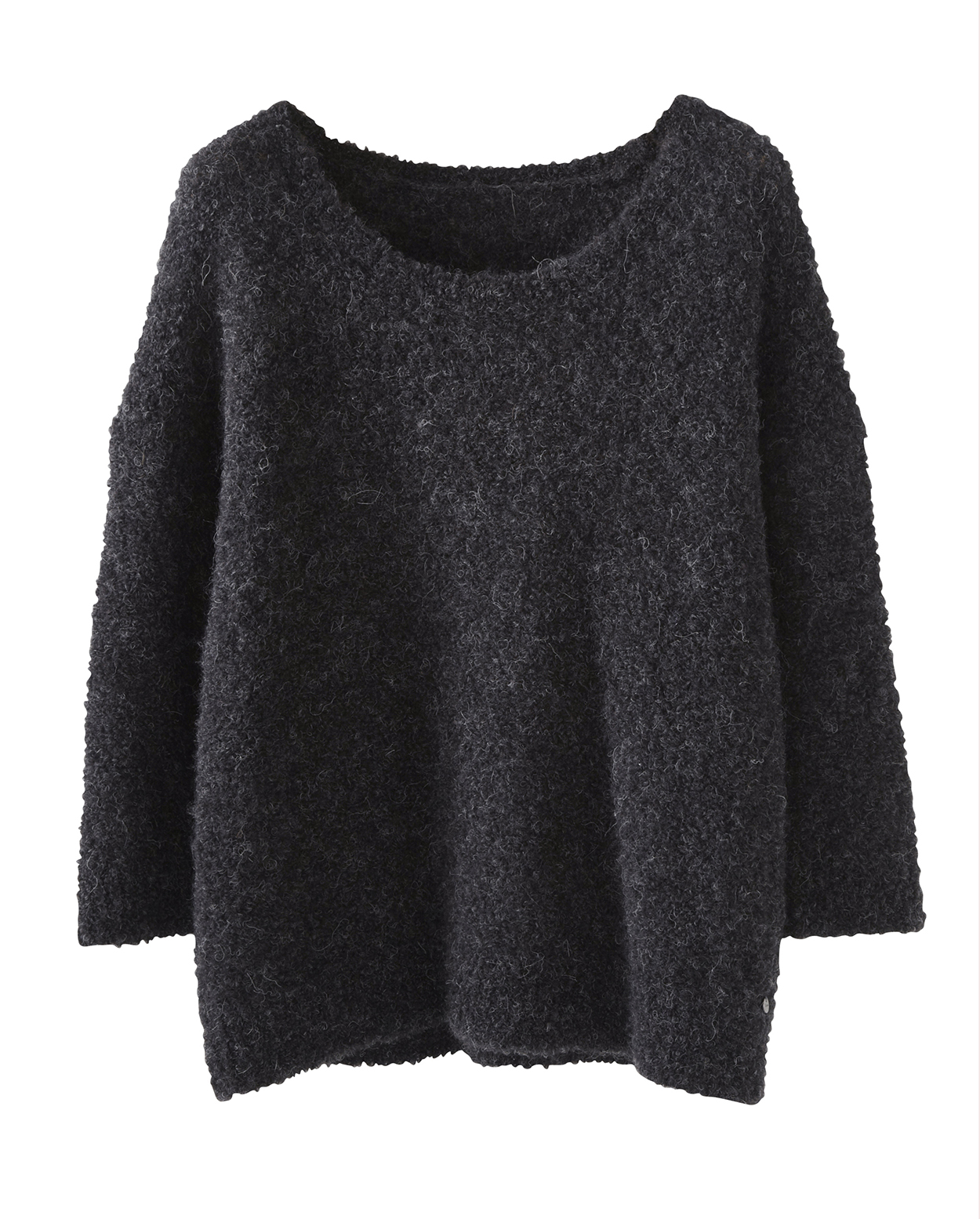 Zippora Sweater Wrap London Zipora Black Jeans Image Of Marl