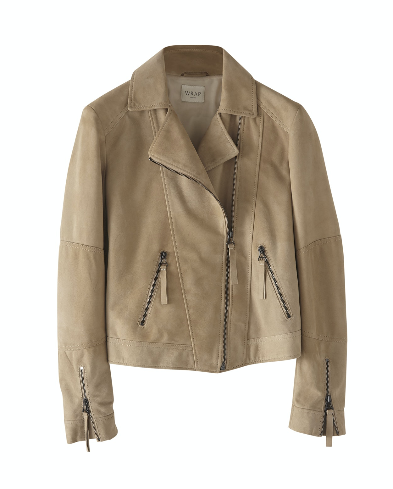 090b77129af82 Suede biker jacket - Wrap London