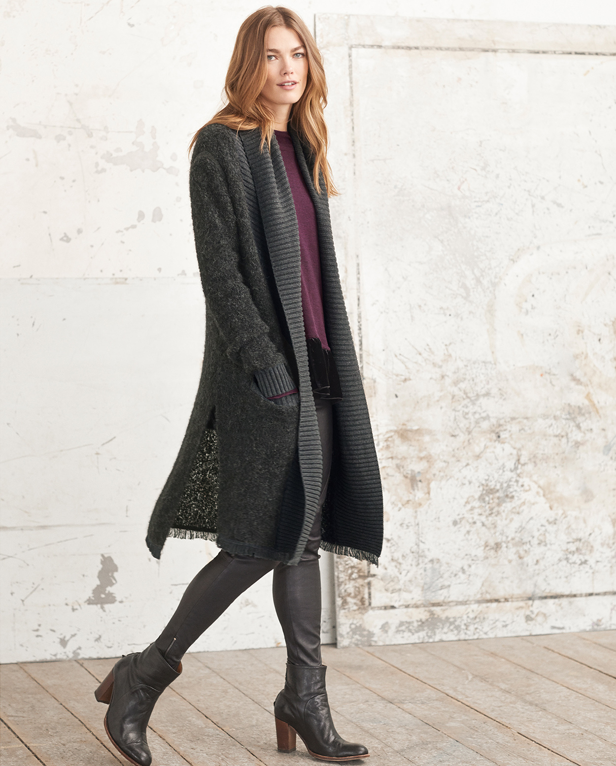 Aneta knitted coat - Wrap London